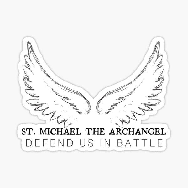 Saint Michael The Archangel Sticker Decal St Michael Angel Protector