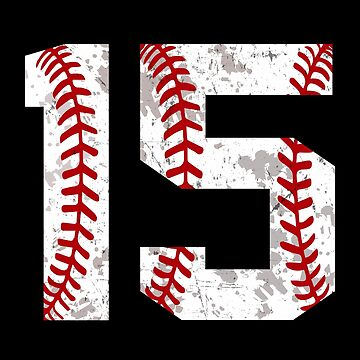 Vintage retro béisbol número 15 softbol mamá cumpleaños quince de JapaneseInkArt