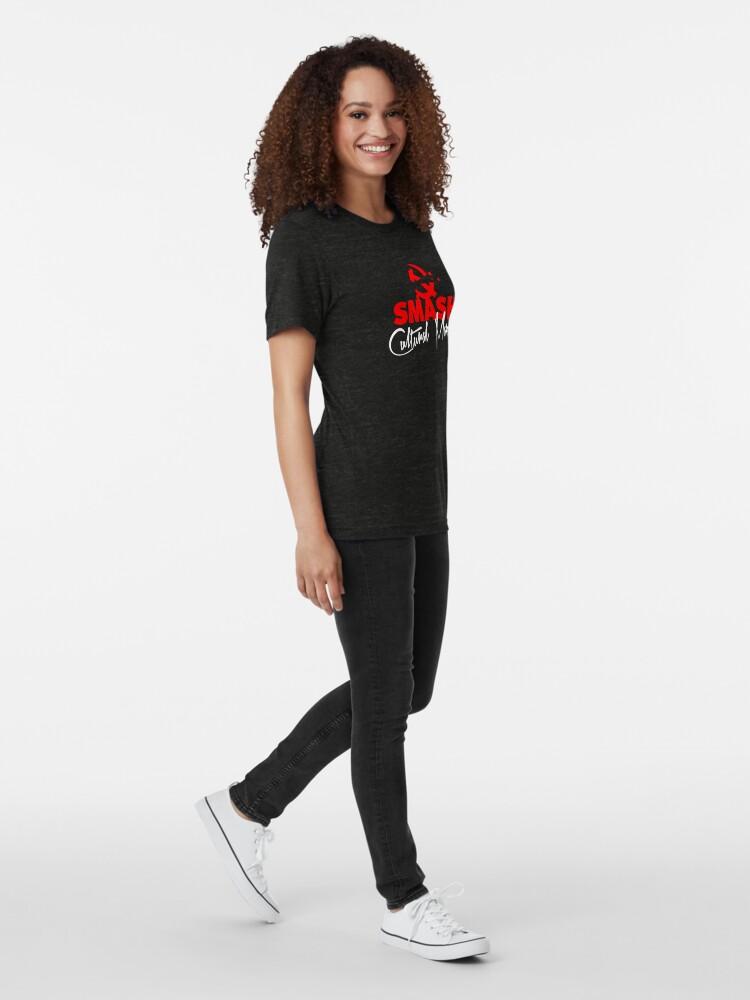 Alternate view of SMASH CULTURAL MARXISM Tri-blend T-Shirt
