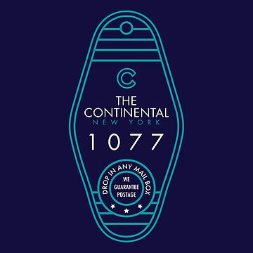 "John Wick ""The Continental"" Continental Hotel Key Tag by BenFraternale"