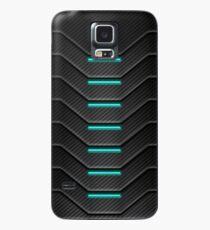 Kohlefaser-futuristischer Telefonkasten Hülle & Klebefolie für Samsung Galaxy
