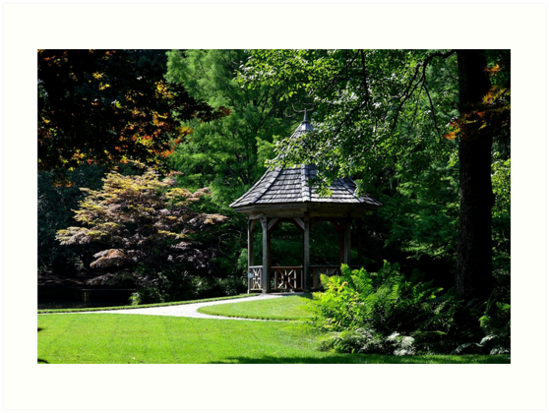 Gibbs Garden Gazebo on a pond by msegall