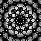 Schwarz Weiß Mandala von Costa100