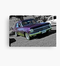 Purple EH Holden on Black and White background Canvas Print