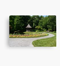 Gazebo in the gardens Canvas Print
