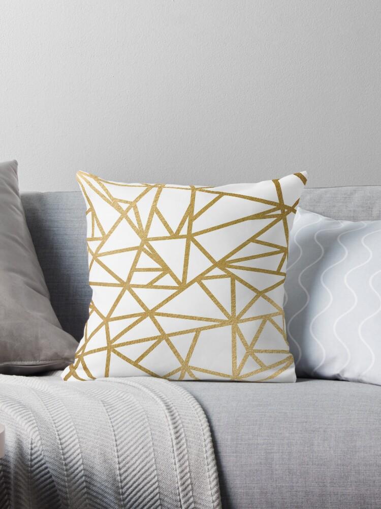 Geometrisches Mosaik der Goldfolie von AnnaGo