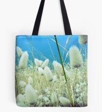 fluffy grass Tote Bag