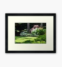 Stairs to the Manor House Garden Framed Print