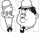 Laurel & Hardy (vector, L&H) by Kicksaus