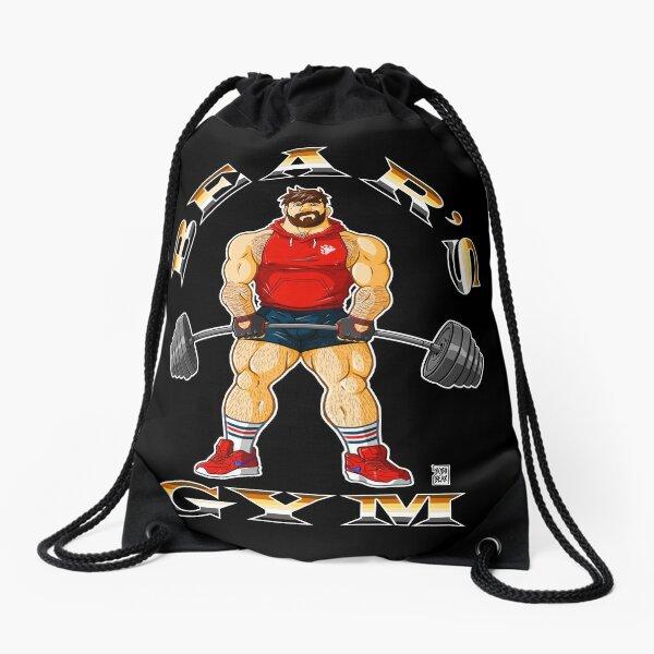ADAM LIKES BEAR'S GYM Drawstring Bag