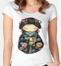 Little Multicolour Teapot Women's Fitted Scoop T-Shirt