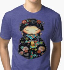 Little Multicolour Teapot Tri-blend T-Shirt