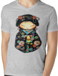 Little Multicolour Teapot Mens V-Neck T-Shirt