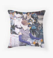 motor scooter in Vietnam Throw Pillow