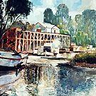 Echuca Wharf - Victoria, Australia by Pieter Zaadstra