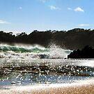 Summer Surf - crashing waves on beautiful beach - Original photo graphic design Merchandise by VIDDAtees