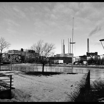 Bright February morning in Helsinki, Finland in black and image by paulmcnam