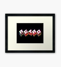 RETRO. 3D Typography cool 1980s/80s Design. Framed Print