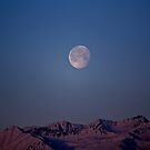 The Moon over the Alps by Stefano  De Rosa