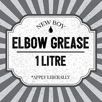 Elbow Grease Funny Apprentice Garage Mechanic Joke by CreativeTwins