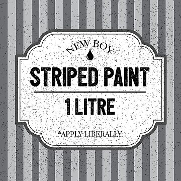 Tin of Striped Paint Apprentice Trainee Painter Decorator Quote by CreativeTwins