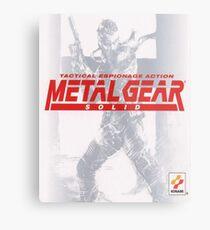 Lienzo metálico Metal Gear Solid