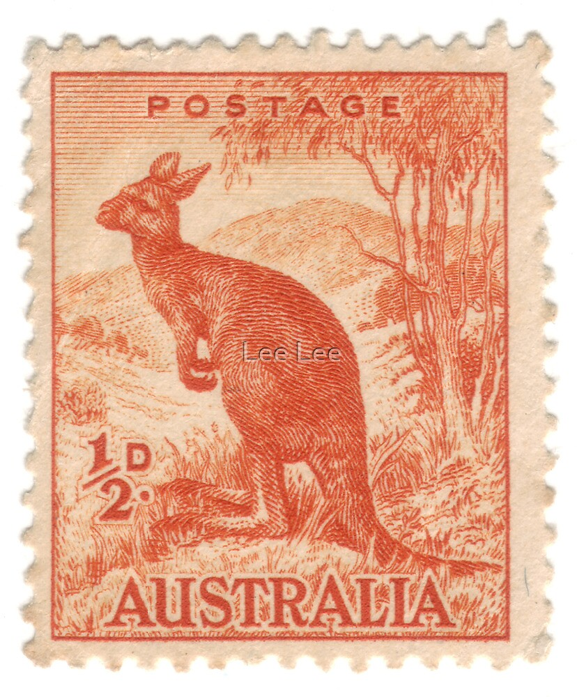 Old Australian stamp by Lee Lee