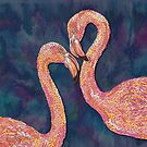 Pink Flamingos by lottibrown