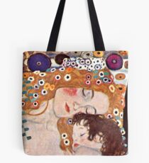 "Cropped Klimt's ""The three ages of a woman"" Tote Bag"