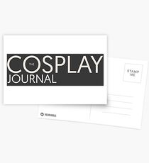 The Cosplay Journal Logo Off White Postcards