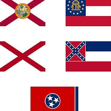 Florida, alabama, Georgia, Tennessee, Mississippi by Nolan12