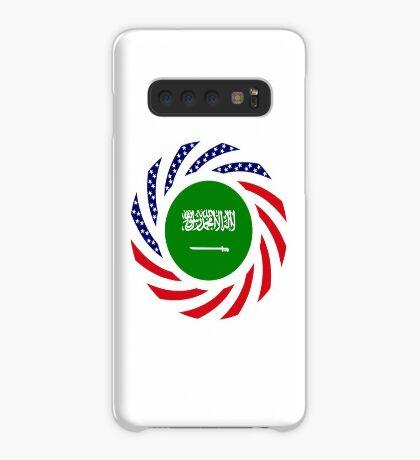 Saudi American Multinational Patriot Flag Series Case/Skin for Samsung Galaxy