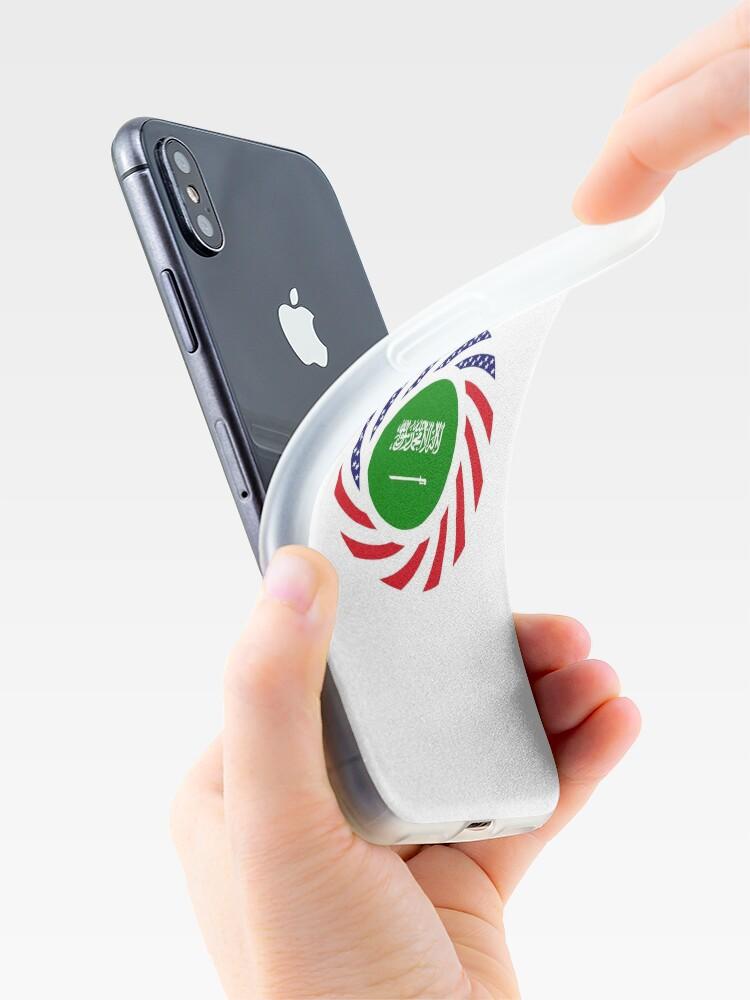 Alternate view of Saudi American Multinational Patriot Flag Series iPhone Case & Cover