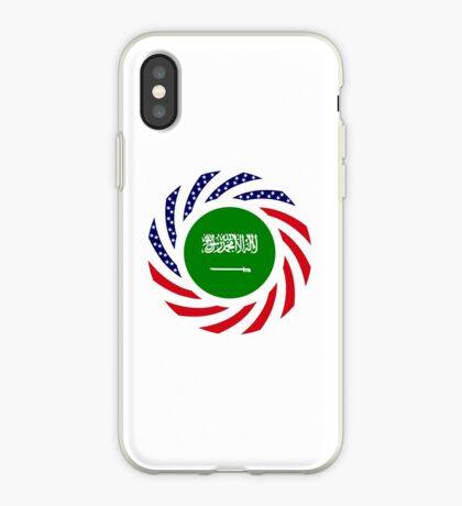 Saudi American Multinational Patriot Flag Series iPhone Case
