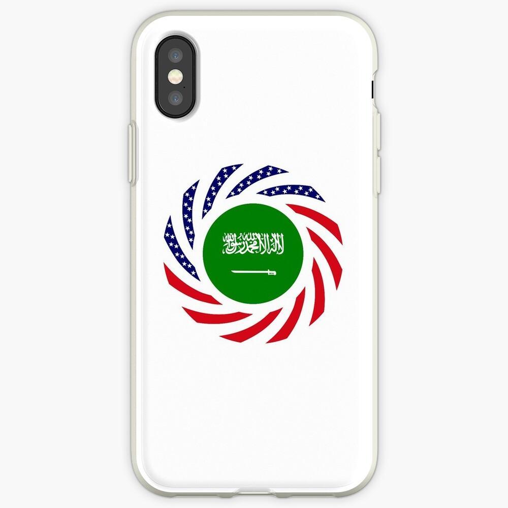 Saudi American Multinational Patriot Flag Series iPhone Case & Cover