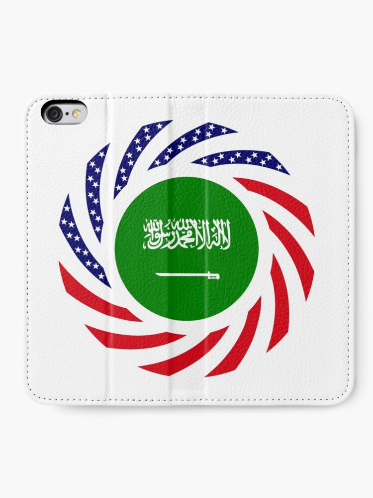 Alternate view of Saudi American Multinational Patriot Flag Series iPhone Wallet
