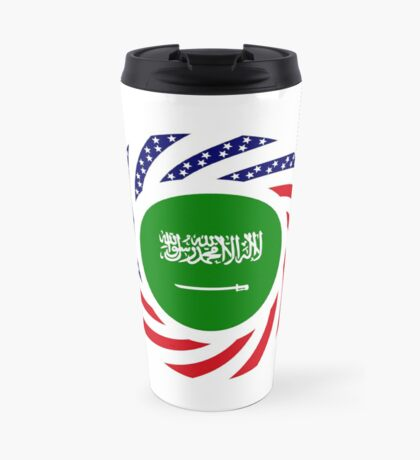 Saudi American Multinational Patriot Flag Series Travel Mug