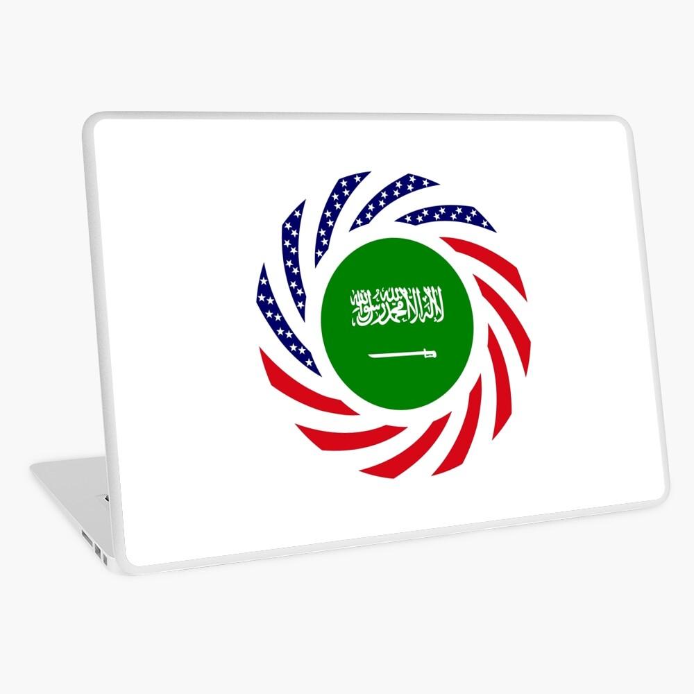 Saudi American Multinational Patriot Flag Series Laptop Skin