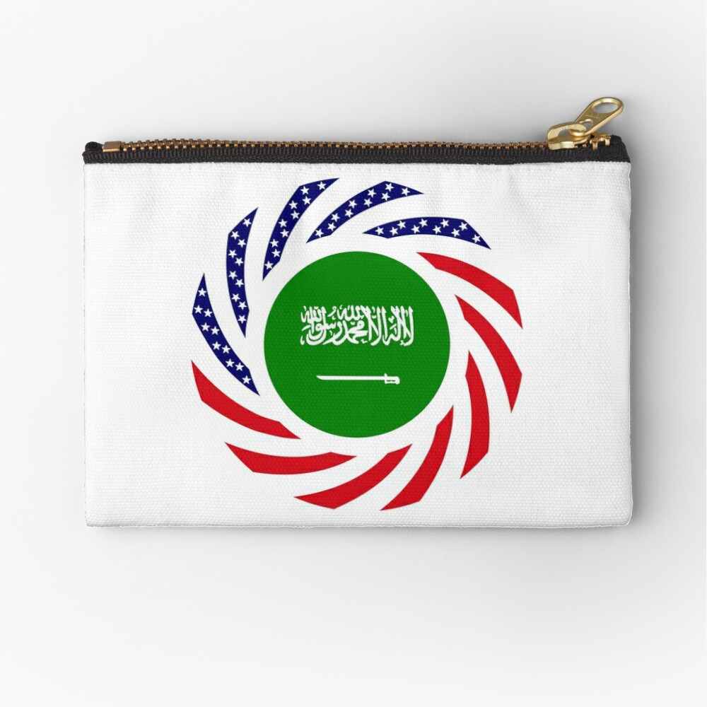 Saudi American Multinational Patriot Flag Series Zipper Pouch