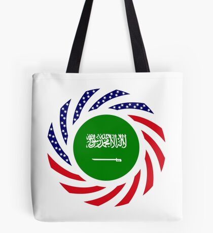 Saudi American Multinational Patriot Flag Series Tote Bag