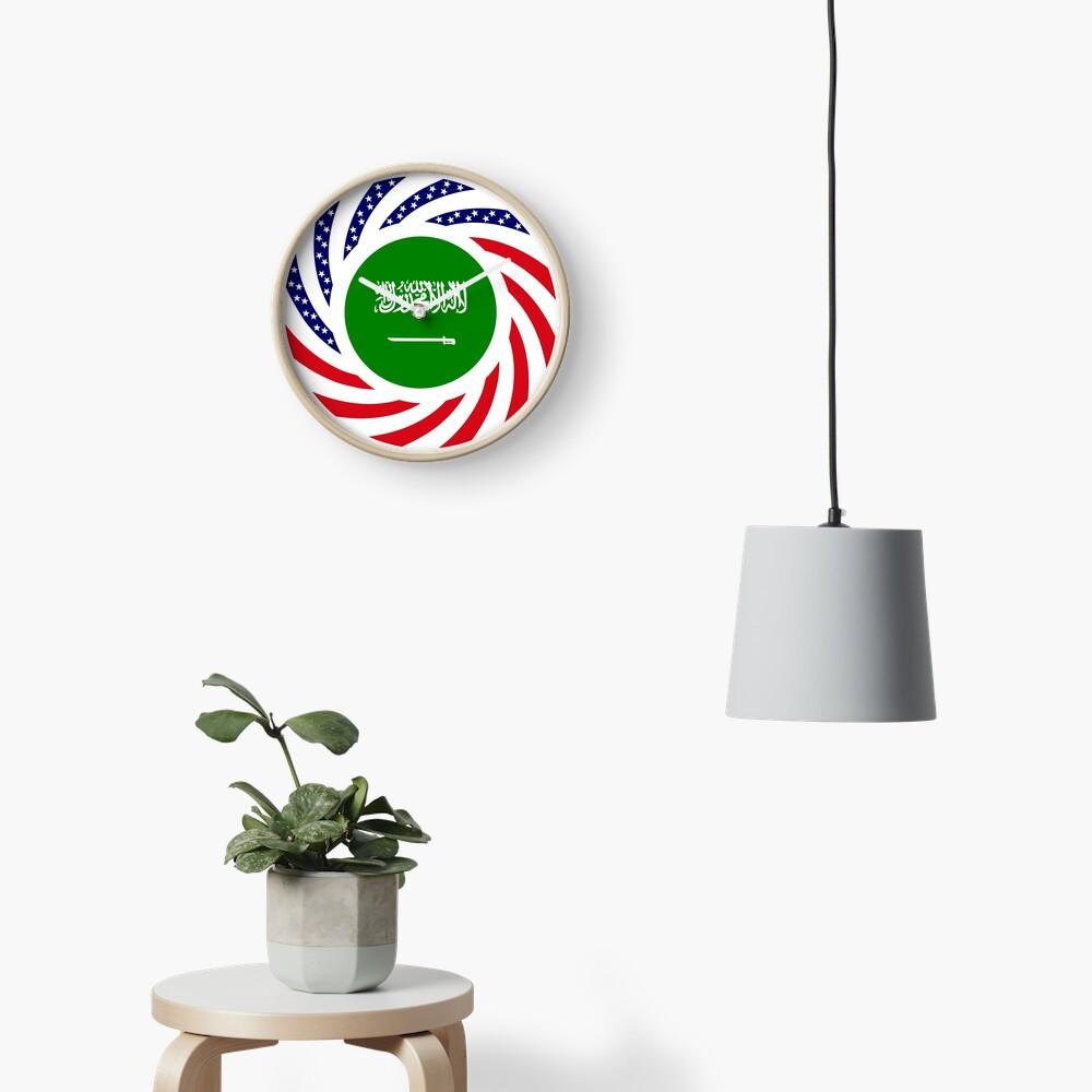 Saudi American Multinational Patriot Flag Series Clock