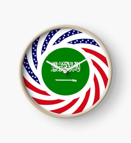 Saudi American Multinational Patriot Flag Series Clock