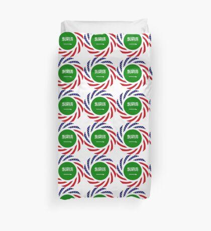 Saudi American Multinational Patriot Flag Series Duvet Cover