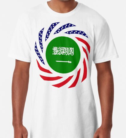 Saudi American Multinational Patriot Flag Series Long T-Shirt