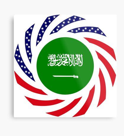 Saudi American Multinational Patriot Flag Series Metal Print
