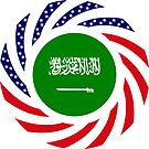 Saudi American Multinational Patriot Flag Series by Carbon-Fibre Media