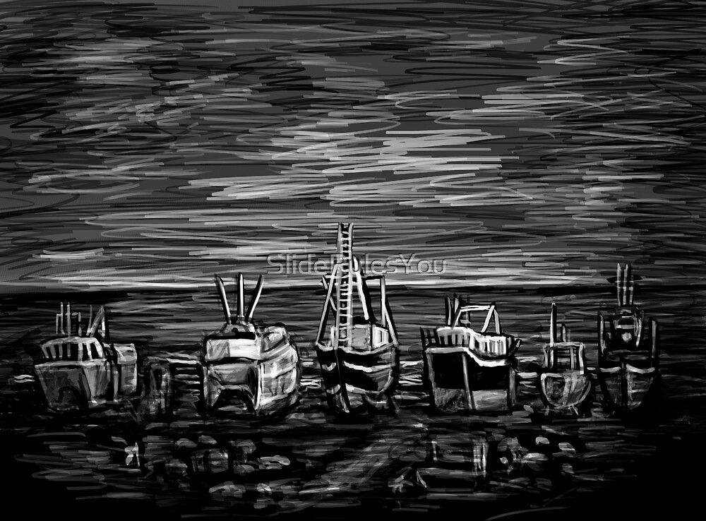 Fishing Fleet by SlideRulesYou