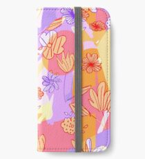 Happy Flowers iPhone Flip-Case/Hülle/Klebefolie