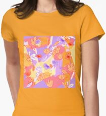 Happy Flowers Tailliertes T-Shirt