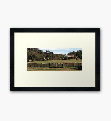 Hill End Fence Line Framed Print